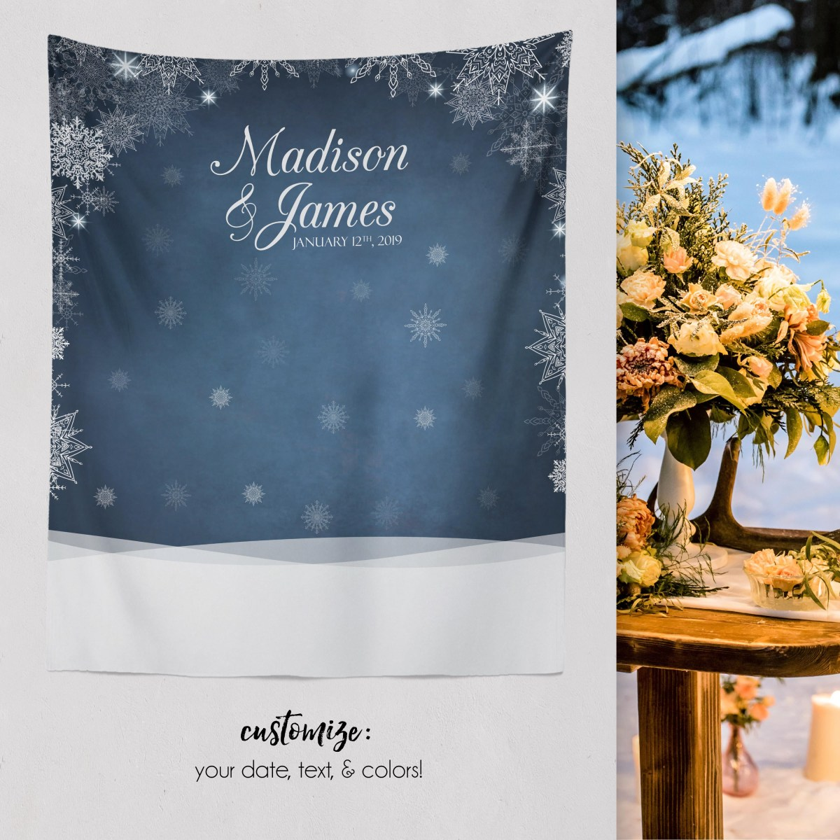 Christmas Wedding Decor Winter Wedding Winter Wedding Decor Winter Engagement Backdrop Christmas Wedding Decor W A33 Tp Aa3