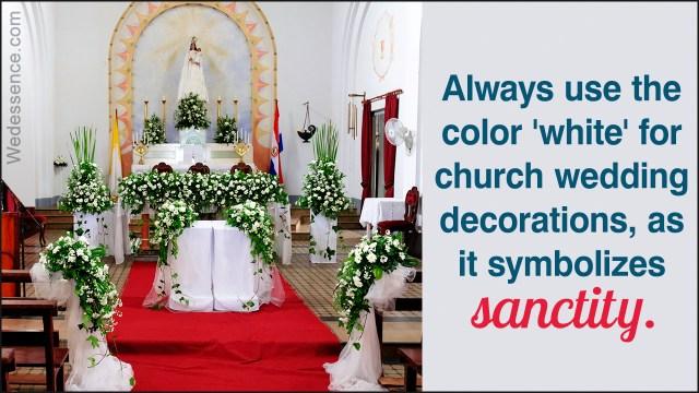Church Wedding Decoration Simple Church Wedding Decoration Ideas