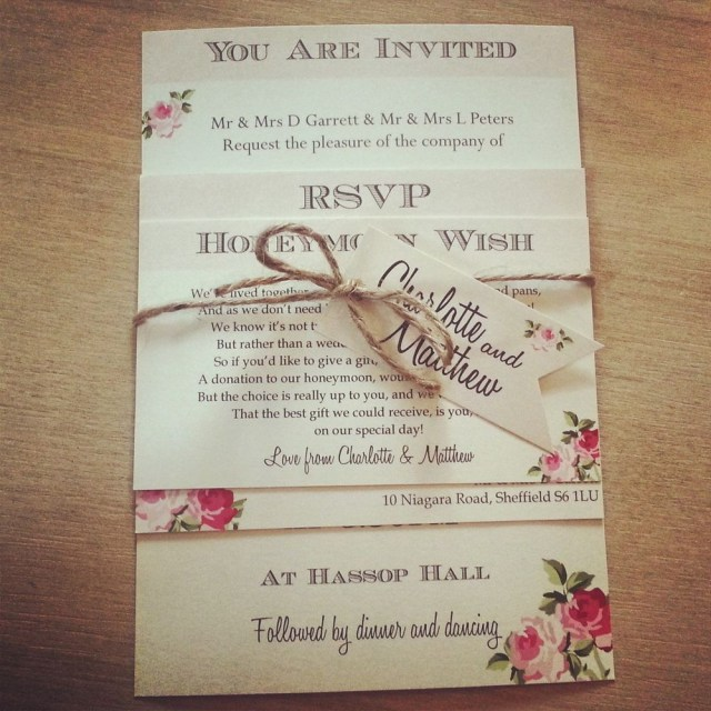 Country Chic Wedding Invitations 1 Vintage Shab Chic Style Charlotte Wedding Invitation
