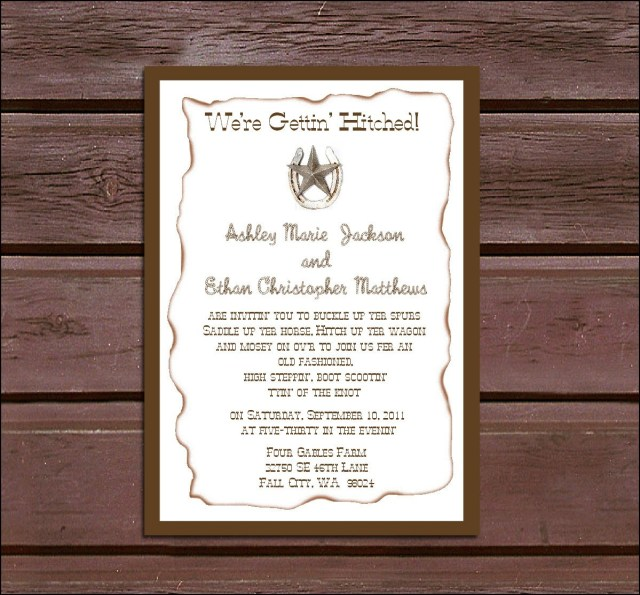 Country Rustic Wedding Invitations 100 Western Country Rustic Wedding Invitations Rsvps Reception