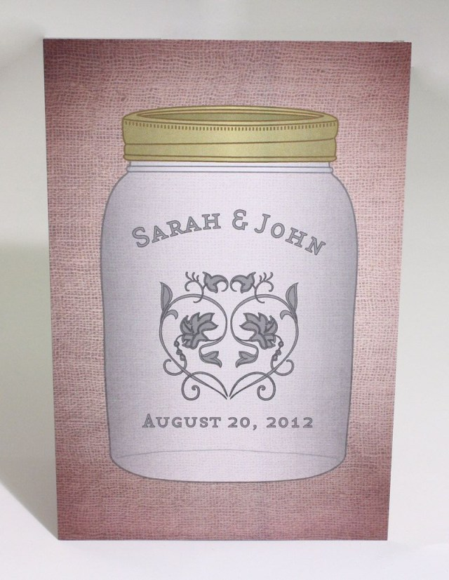 Country Themed Wedding Invitations Mason Jar Wedding Invitation Postcard Awesomesaucedesigns Mason