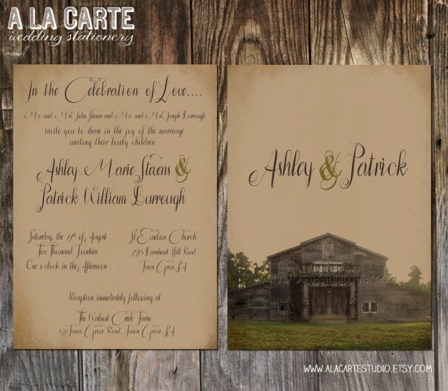 Country Themed Wedding Invitations Rustic Country Wedding Invitations Marina Gallery Fine Art