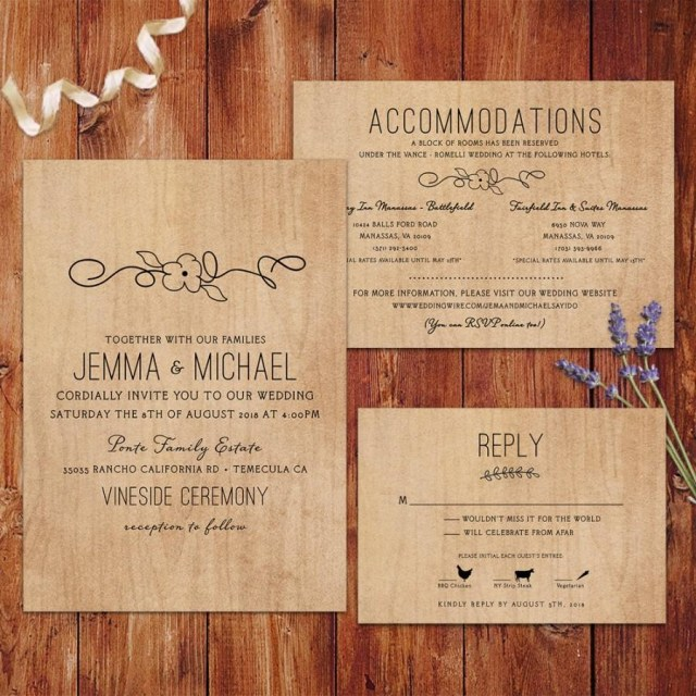 Country Wedding Invitation Wording Rustic Wedding Invitations Wood Background Wedding Invitations