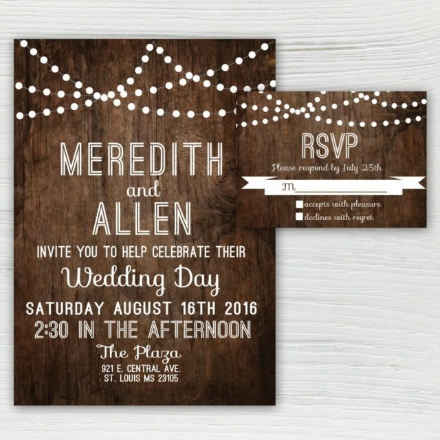 Country Wedding Invites Rustic Wood Wedding Invitation Country Wedding Invitation String