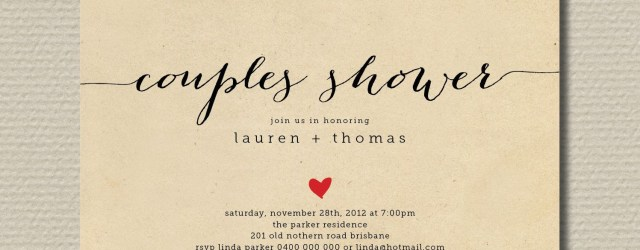 Couples Wedding Shower Invitations Printable Couples Shower Invitation Kraft Invite Br82
