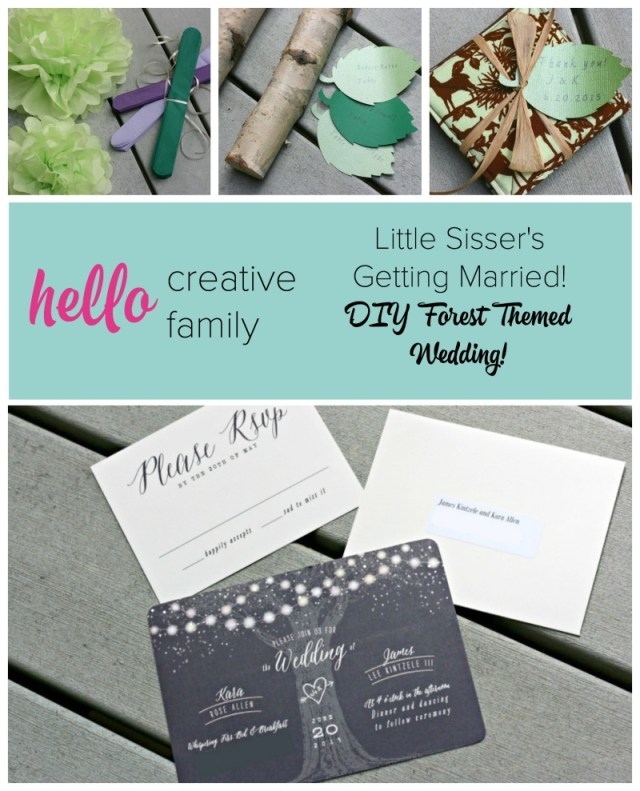 Cricut Wedding Projects Creating A Diy Forest Themed Wedding For Little Sissers Special Day