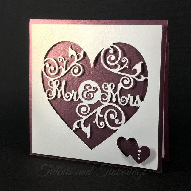 Cricut Wedding Projects Mr Mrs Heart Flourish Newlyweds Wedding Card Tidbits And