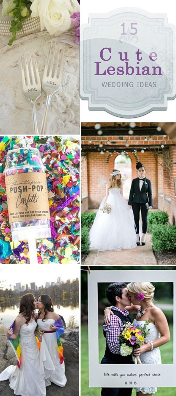 Cute Wedding Ideas 15 Cute Lesbian Wedding Ideas Hative