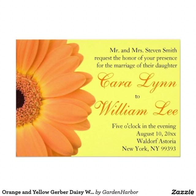 Daisy Wedding Invitations Elegant Orange Gerber Daisy Wedding Invitations Themormonbox