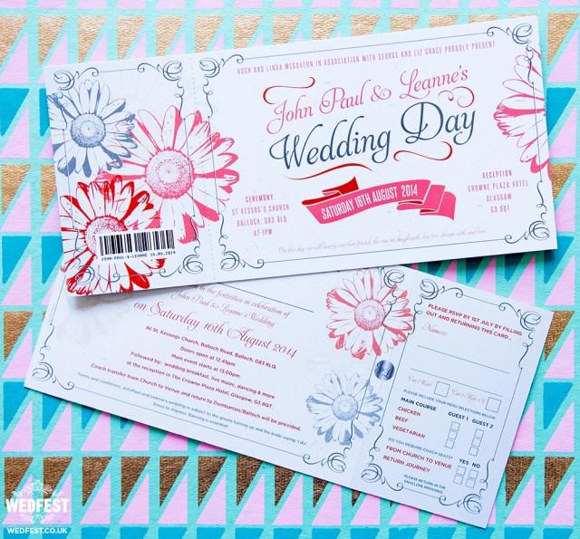Daisy Wedding Invitations Gerbera Daisy Flower Wedding Stationery Wedfest
