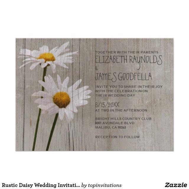 Daisy Wedding Invitations Rustic Daisy Wedding Invitations In 2018 Wedding Invitations