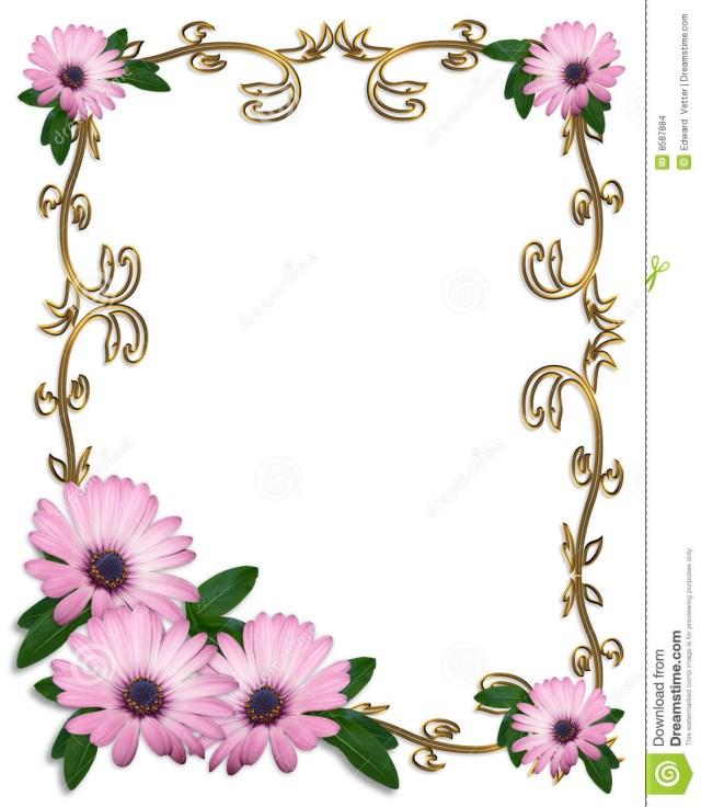 Daisy Wedding Invitations Stock Images Daisy Border Wedding Gallery One Border Designs For