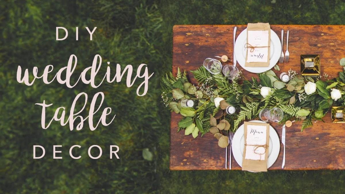 Decor Wedding Diy Diy Wedding Table Decor Swoons Youtube