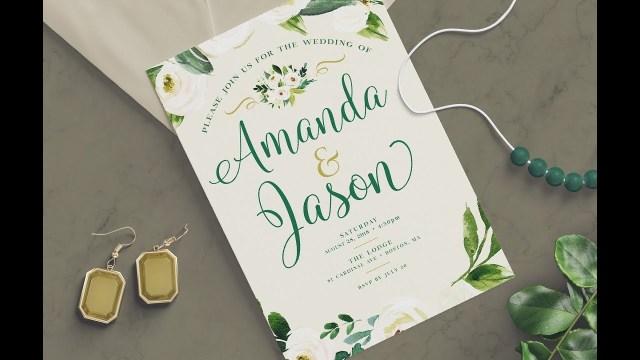 Designer Wedding Invitations How To Create A Wedding Invitation Design In Photoshop Youtube