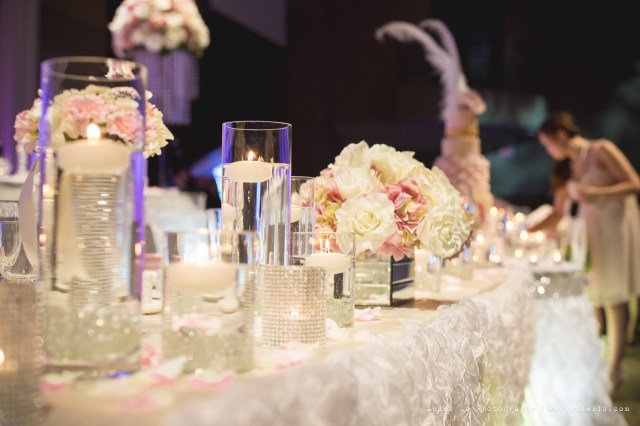 Did Wedding Decorations A Romantic Reception Decoration With Ruffles And Crystals Toronto
