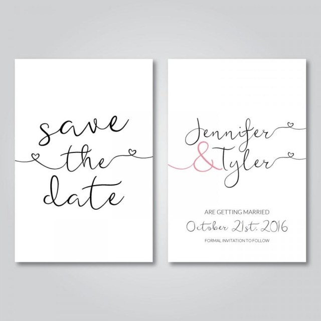 Digital Wedding Invitations Save The Date Printable Wedding Invitation Digital Download