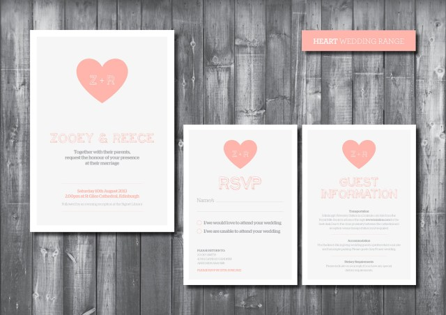 Digital Wedding Invitations Wedding Invitation Suite Digital Printable File Heart Wedding