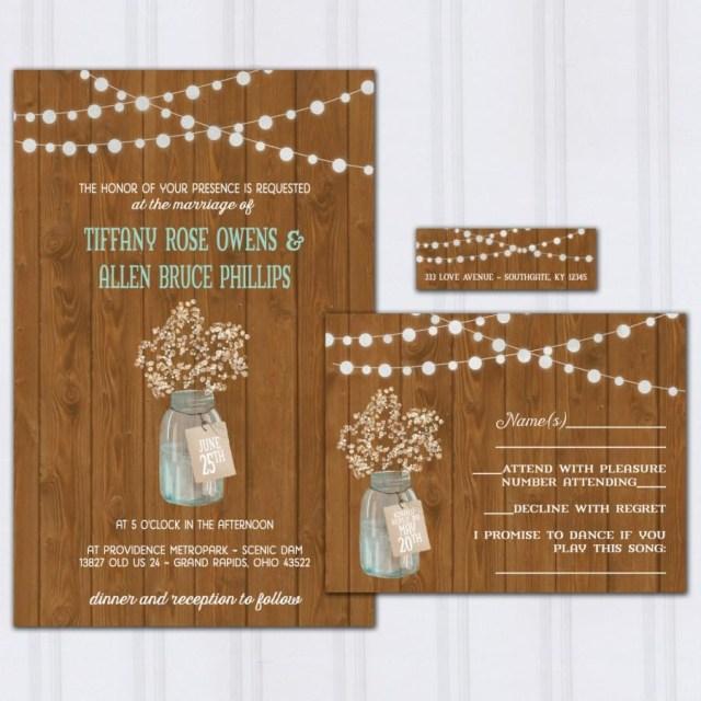 Discounted Wedding Invitations Rustic Barn Wood Wedding Invitations Bas Breath Invite Set
