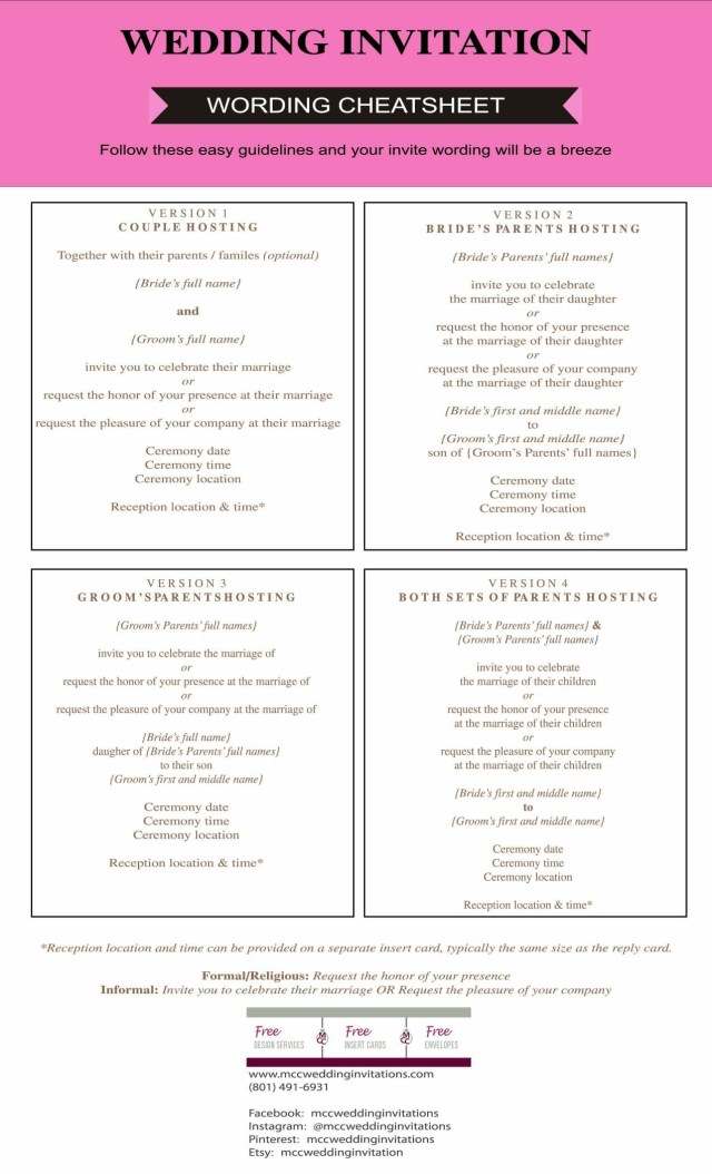 Discounted Wedding Invitations Wedding Invitation Etiquette Guide Mcc Wedding Invitations