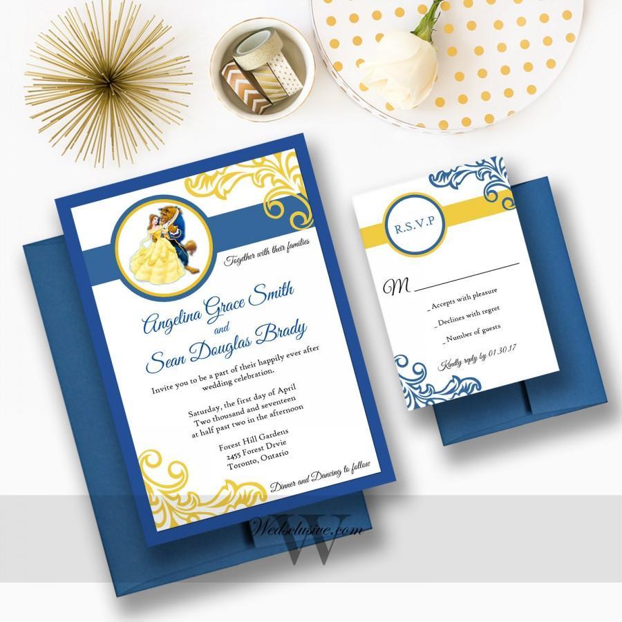 Disney Wedding Invitations Beauty And The Beast