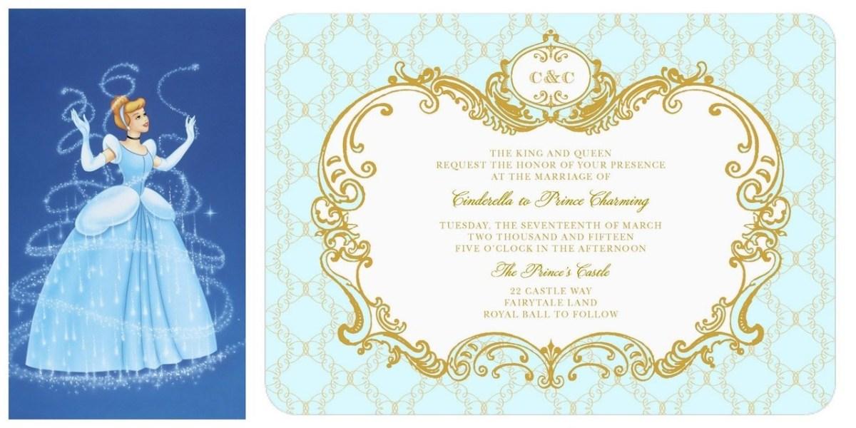 Disney Wedding Invitations Cinderella Wedding Invitation Lily James Official Disney Cinderella