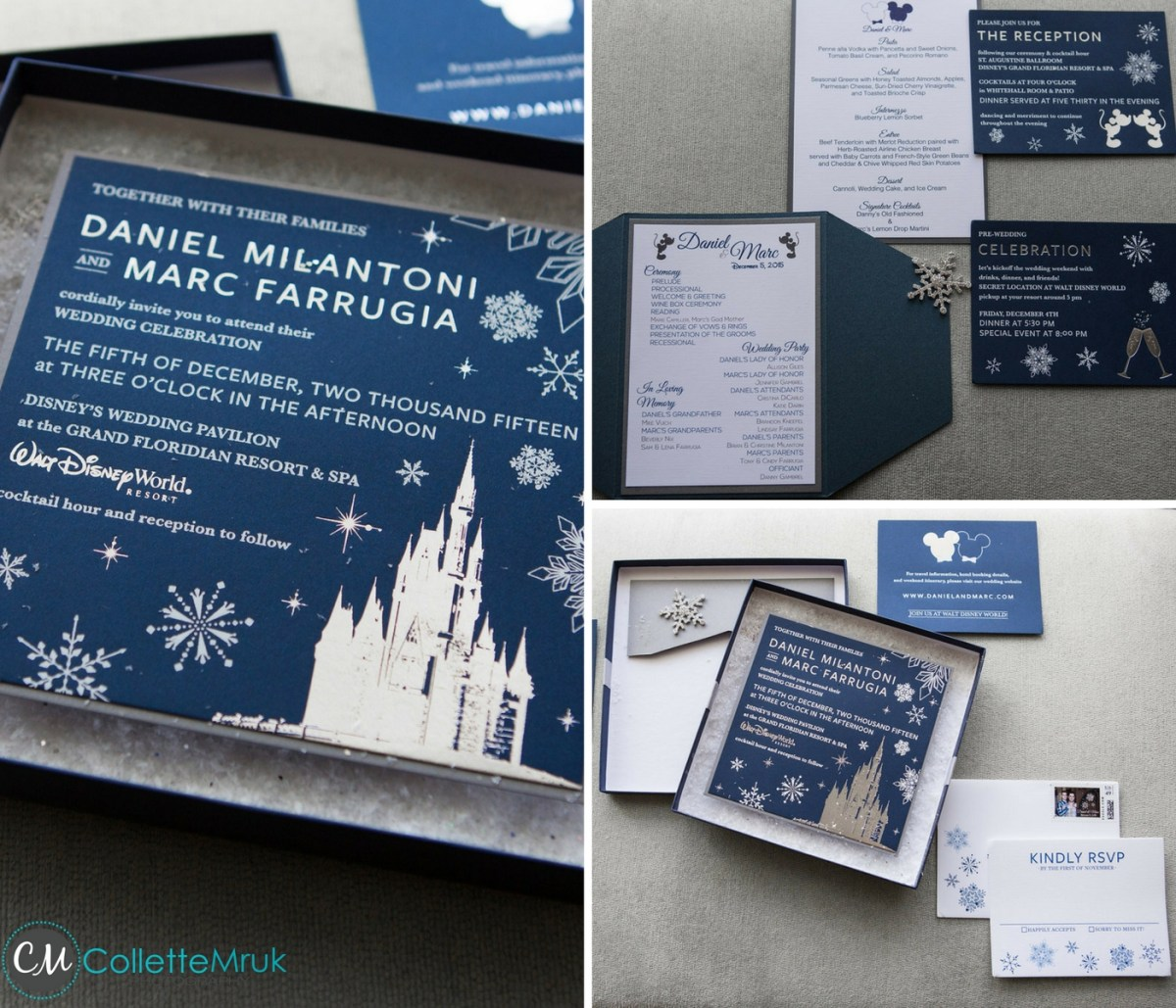 Disney Wedding Invitations Collette Mruk Photography Disney Wedding Invitations