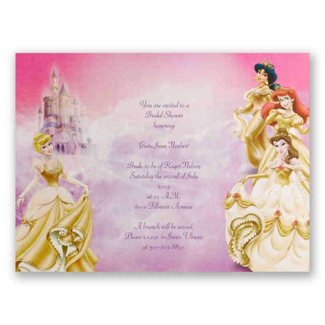 Disney Wedding Invitations Disney All The Girls Bridal Shower Invitation