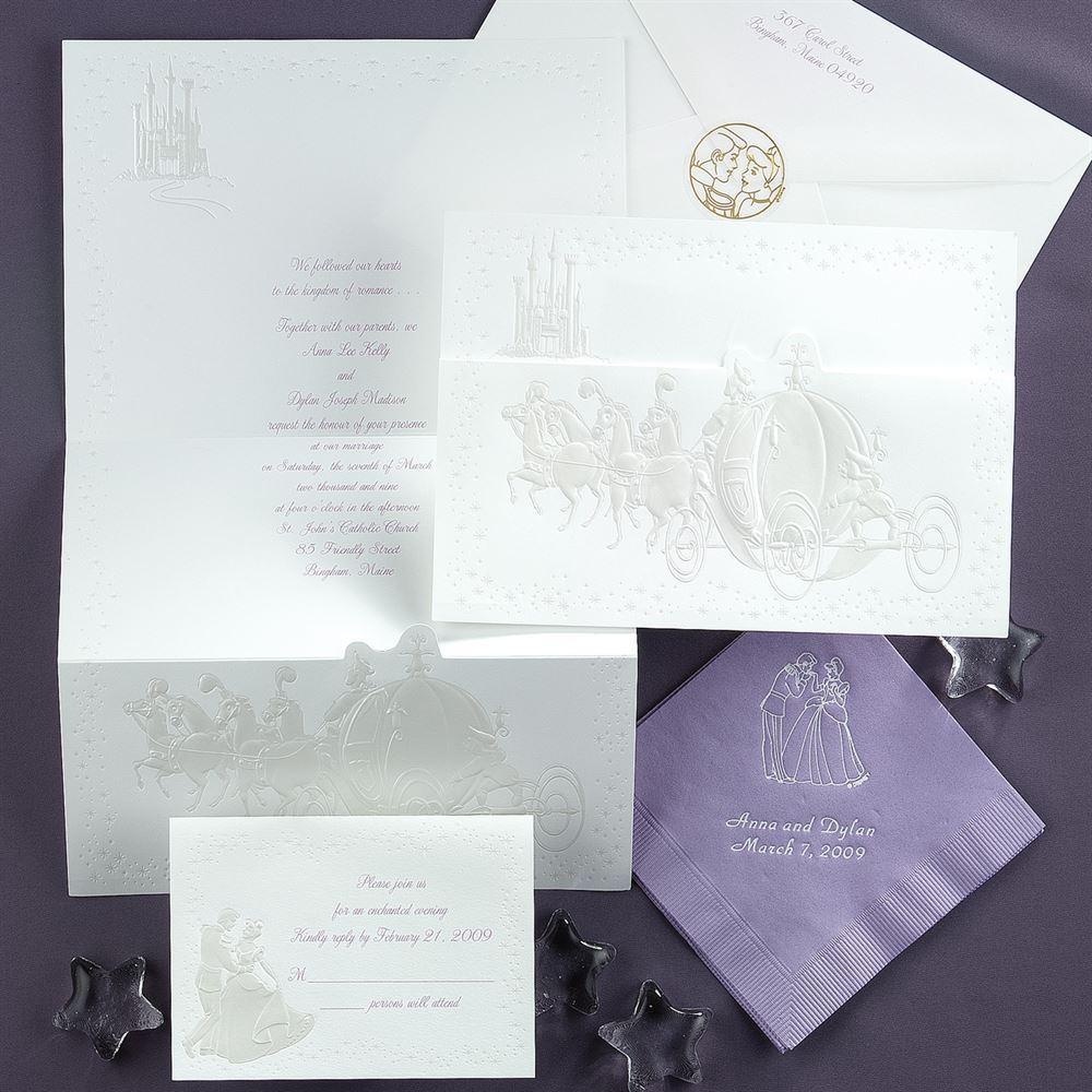 Disney Wedding Invitations Disney Dreams Come True Invitation Cinderella Invitations Dawn