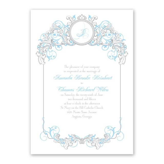 Disney Wedding Invitations Disney Fairy Tale Filigree Invitation Cinderella