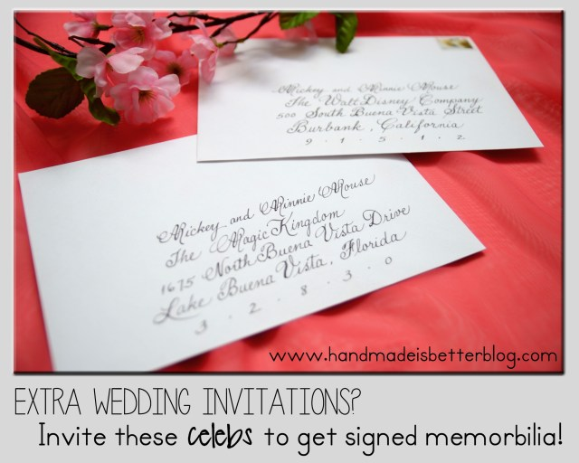 Disney Wedding Invitations Extra Wedding Invitations Invite These Celebrities To Get Signed