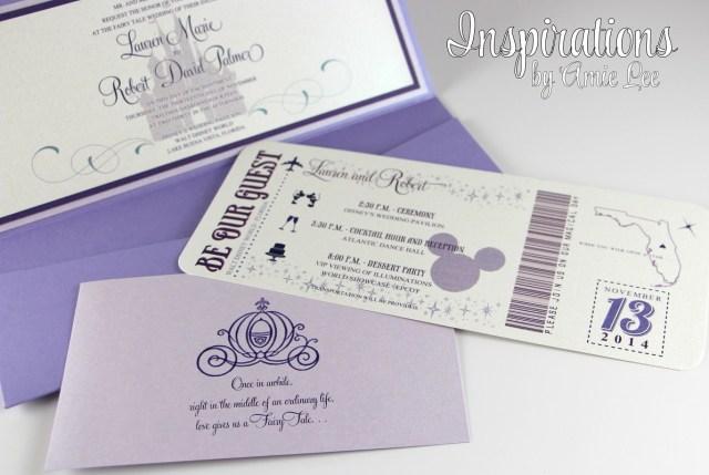 Disneyland Wedding Invitations Disney Wedding Invitations Disney Boarding Pass Invitations Etsy
