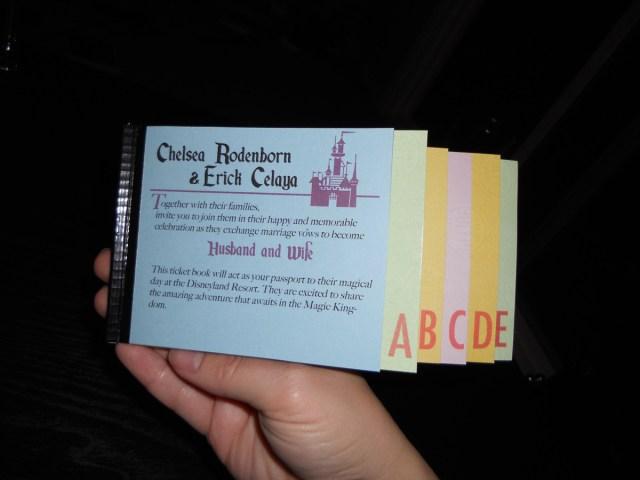 Disneyland Wedding Invitations Diy Vintage Disneyland Ticket Book Wedding Invitations This Fairy