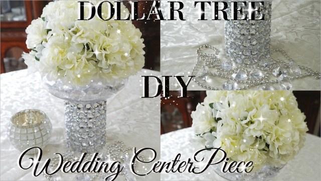 Diy Centerpieces Wedding Diy Dollar Tree Bling Floral Wedding Centerpiece 2017 Petalisbless