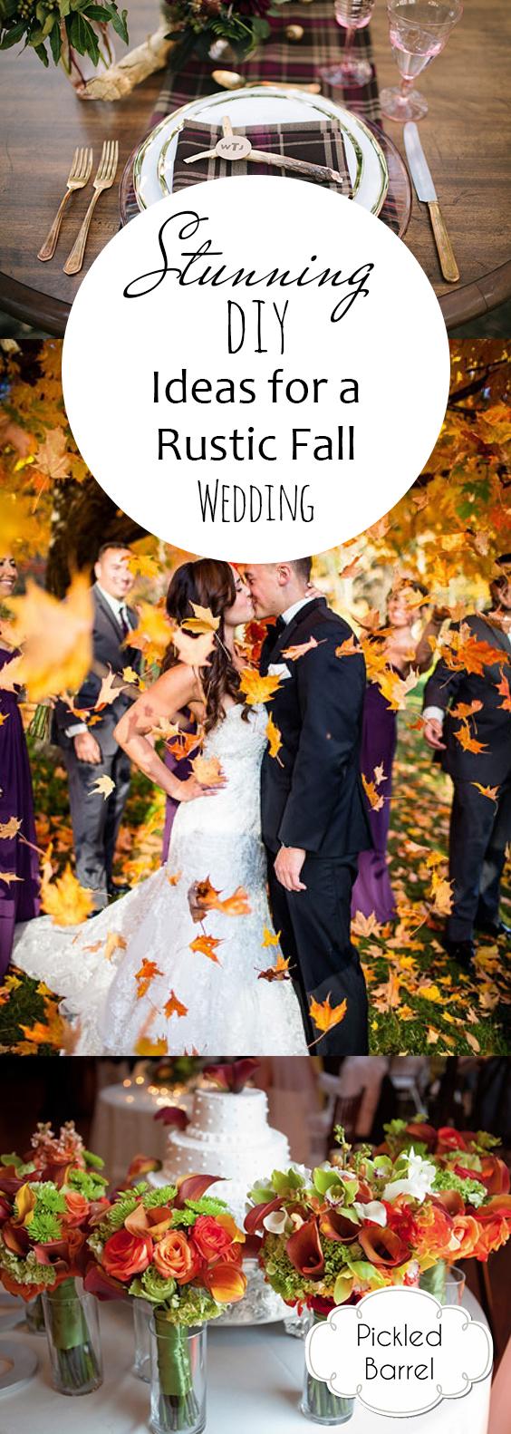 Diy Fall Wedding Ideas Stunning Diy Ideas For A Rustic Fall Wedding Pickled Barrel