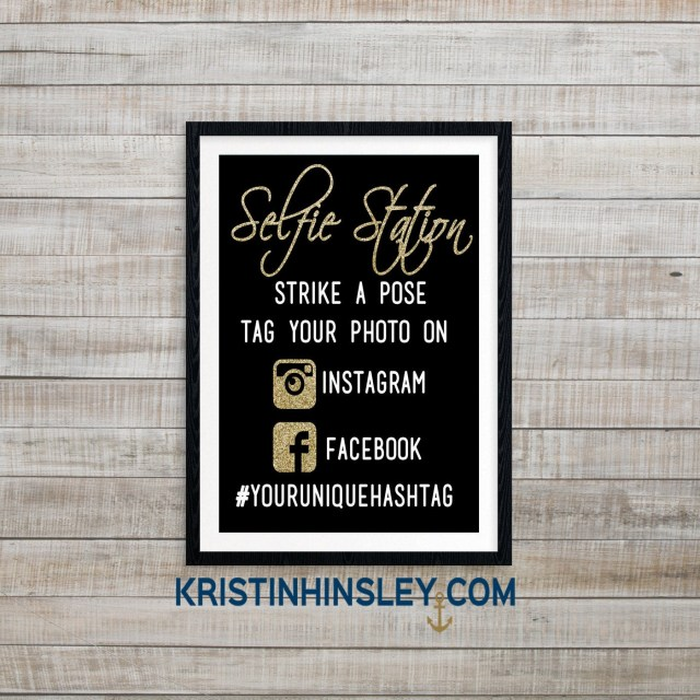Diy Photobooth Wedding Selfie Station Diy Photobooth Sign Hashtag Sign Custom Etsy