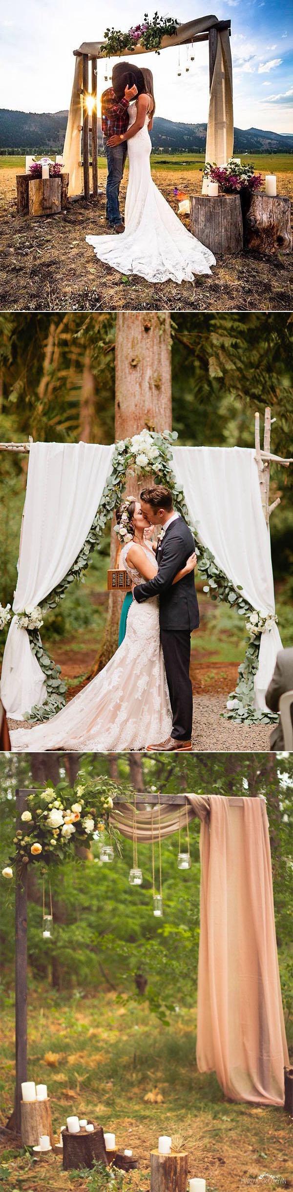 Diy Rustic Wedding 25 Chic And Easy Rustic Wedding Arch Ideas For Diy Brides