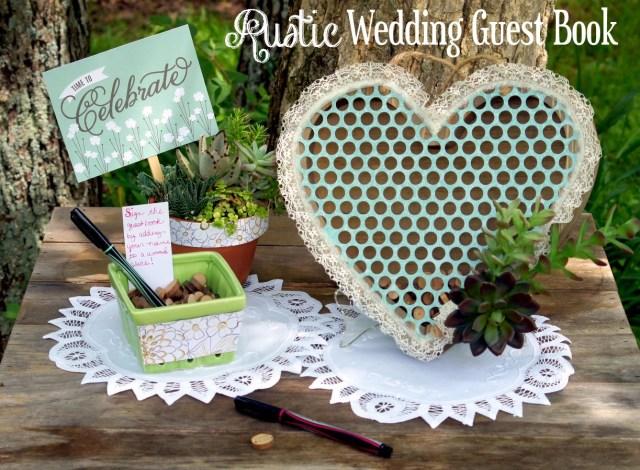 Diy Rustic Wedding Diy Rustic Wedding Guest Book Do More For Less