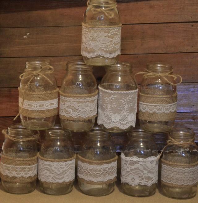 Diy Rustic Wedding Set Of 20 Mason Jar Sleeves Mason Jar Wedding Diy Wedding Etsy