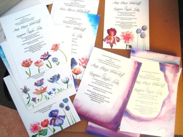 Diy Watercolor Wedding Invitations Anna Maria Locke Diy Watercolor Wedding Invitations Cards