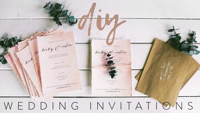 Diy Watercolor Wedding Invitations Diy My Wedding Invitations With Me Youtube