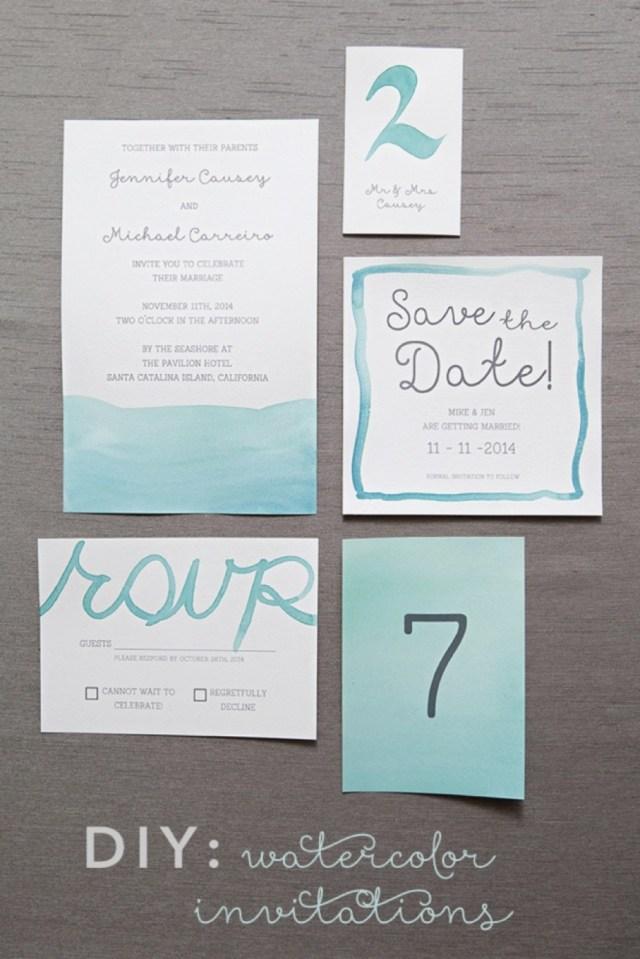 Diy Watercolor Wedding Invitations Diy Wedding Invitations Elegant Learn Exactly How To Diy Watercolor