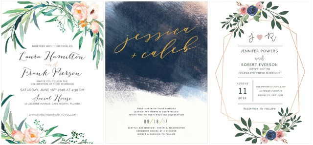 Diy Watercolor Wedding Invitations The Coolest Watercolor Wedding Invitations Of Different Styles
