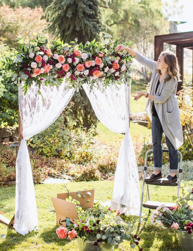 Diy Wedding Alter Diy Wedding Arbor From Fiftyflowers