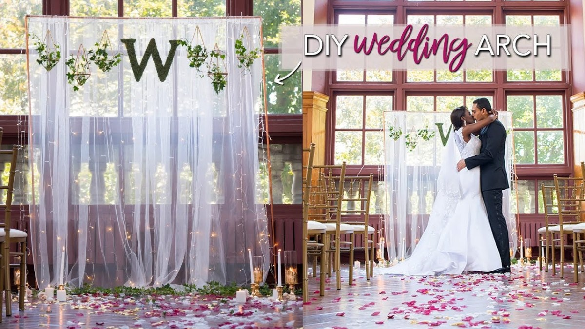 Diy Wedding Backdrop Diy Wedding Ceremony Backdrop Easy No Tools Required Youtube