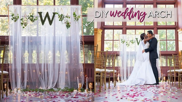 Diy Wedding Backdrop Diy Wedding Ceremony Backdrop Easy No Tools Required Youtube