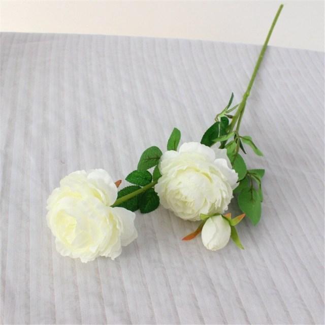 Diy Wedding Bouquet 3 Heads European Peony Artificial Flowers Diy Bridal Bouquet Wedding Decorations