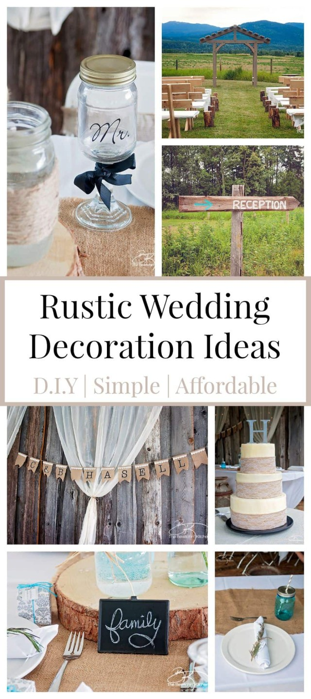 Diy Wedding Decor Ideas Rustic Wedding Ideas That Are Diy Affordable The Bewitchin Kitchen