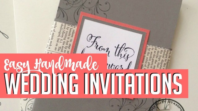 Diy Wedding Invitation Ideas Easy Diy Handmade Wedding Invitations How To Youtube
