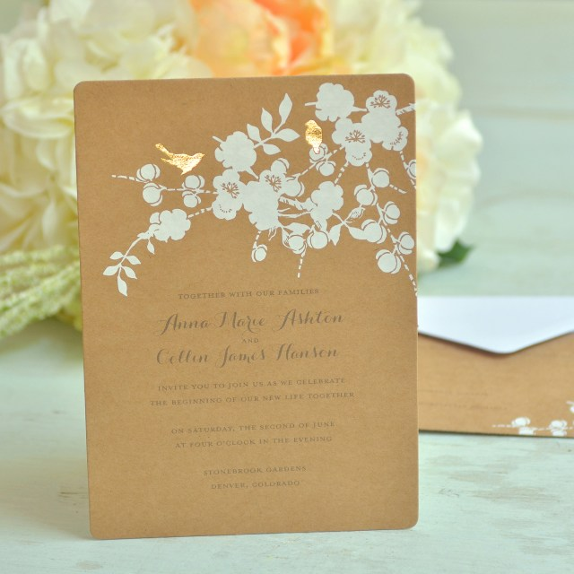 Diy Wedding Invitations Kits Gartner Studios Bird Invitations Walmart