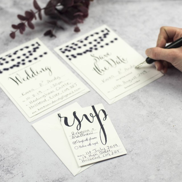 Diy Wedding Invites Nightgarden Diy Wedding Invitation Set Russet And Gray